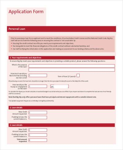 74+ Sample Application Forms in PDF | Sample Templates