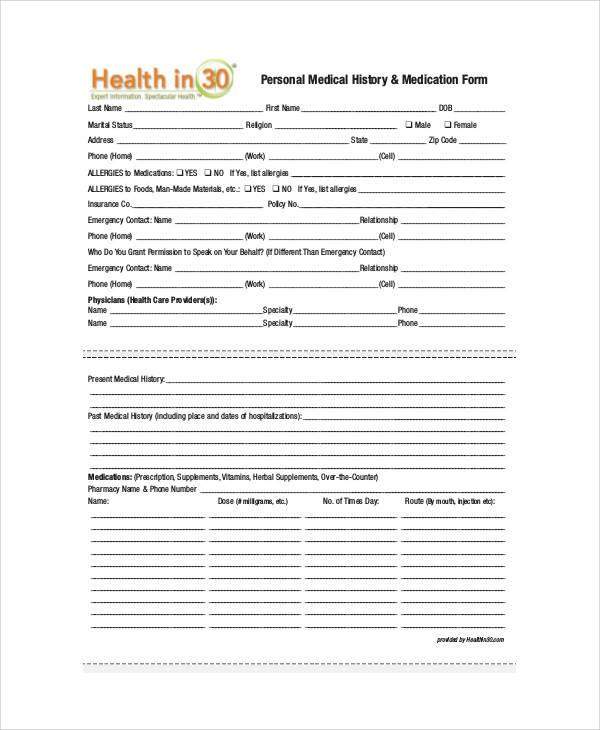 50+ Sample Medical Forms Sample Templates