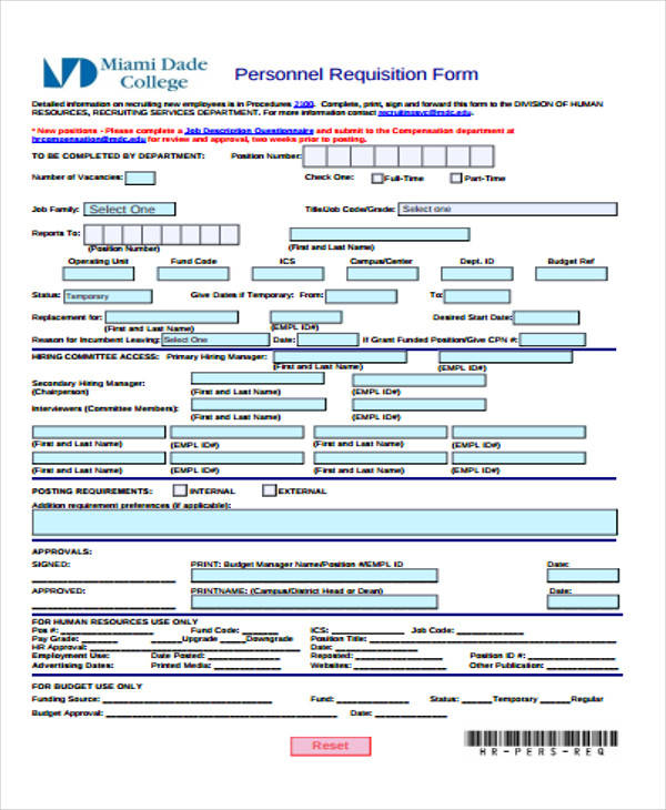 personnel requisition form sample - Onwebioinnovate - requisition form in pdf
