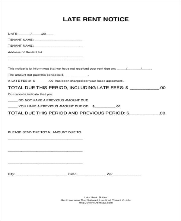 39+ Free Notice Forms