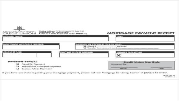 28+ Printable Payment Receipts Sample Templates
