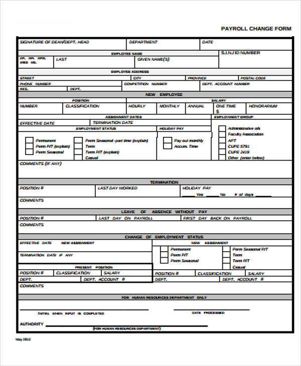 free printable payroll forms