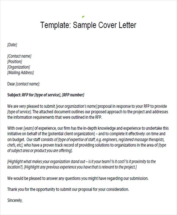 34 Proposal Letter Format Samples Sample Templates