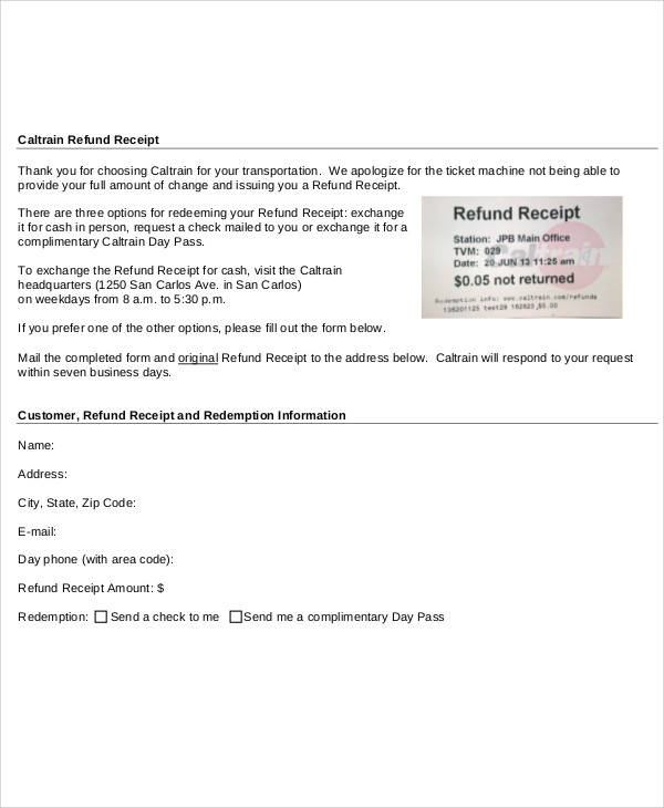 37+ Sample Receipt Forms in PDF Sample Templates