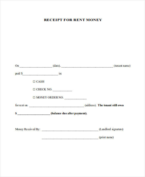 down payment receipt form – Receipt of Payment Form