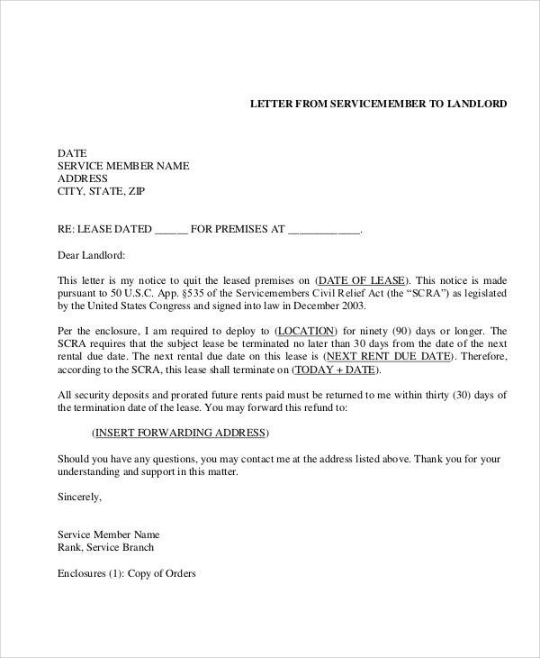 Lease Termination Letter Template layoff notice template 35 – Rental Agreement Letter Template