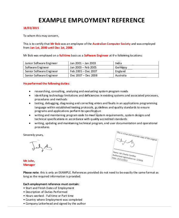 Character Reference Letter Example And Writing Tips Reference Letters