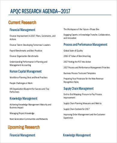 32+ Agenda Samples in PDF Sample Templates