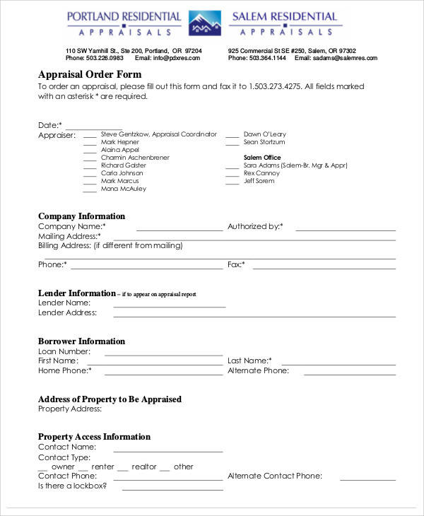 29+ Appraisal Forms in PDF Sample Templates