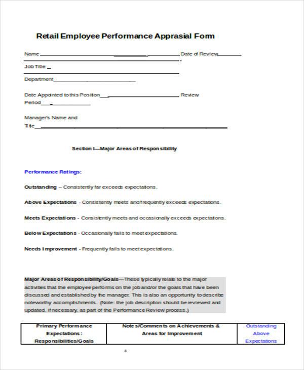 31+ Sample Appraisal Format Sample Templates