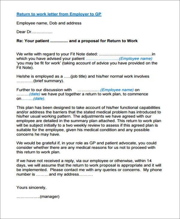 22+ Work Letter Samples Sample Templates
