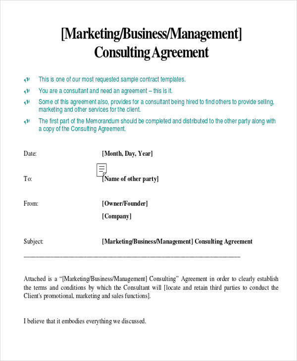 35+ Consulting Agreement Examples Sample Templates - consulting agreement