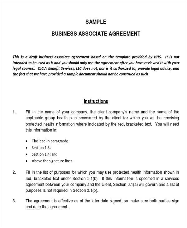 Business Associate Agreement Template. baa agreement template ...