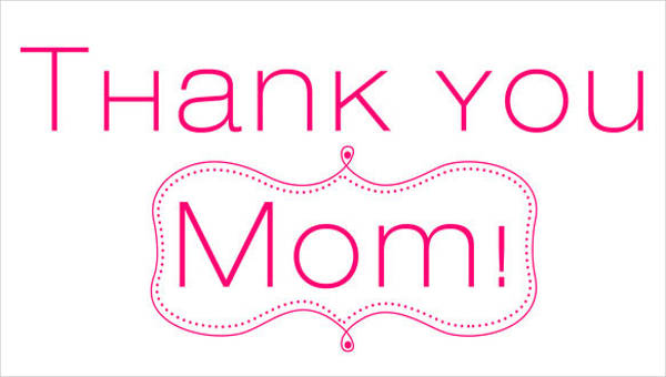 7+ Sample Mom Thank You Letter - Free Sample, Example, Format Download