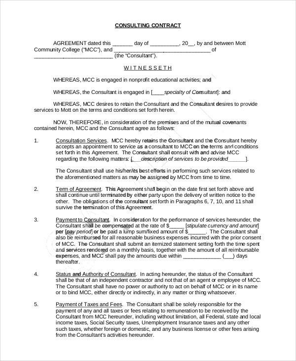40+ Consulting Agreement Samples Sample Templates
