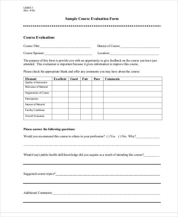 Trainer Evaluation Template Printable-Doc-Training-NeedsSample - class evaluation template