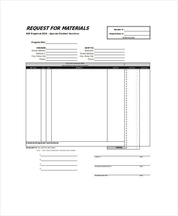 22+ Requisition Forms in Excel Sample Templates - material request form