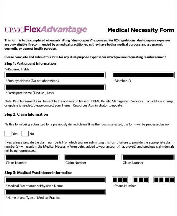 50+ Sample Medical Forms Sample Templates - letter of medical necessity form