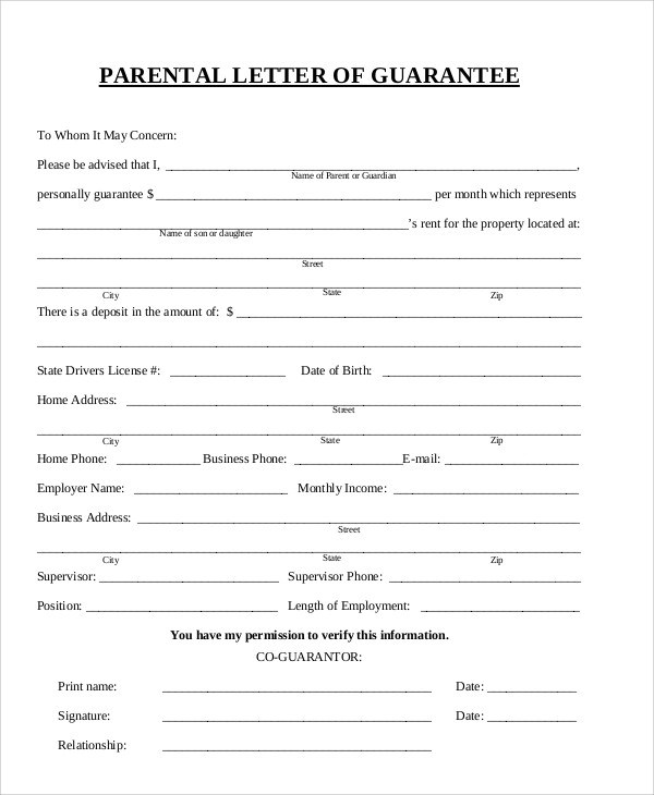 51+ Guarantee Letter Samples \u2013 PDF Sample Templates