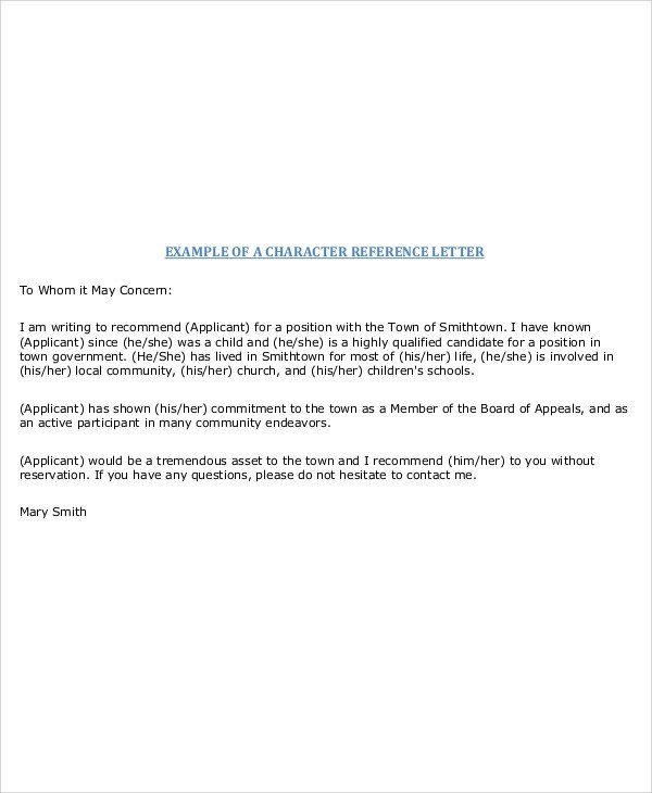 50+ Reference Letter Sample Sample Templates - personal reference letter sample