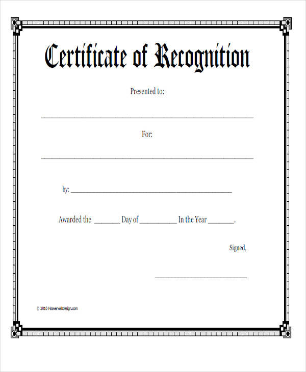 21+ Award Certificates Samples  Templates - Word, PSD, AI, EPS Vector