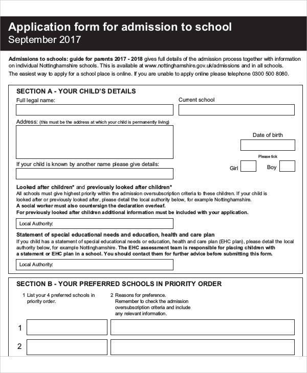 57+ Application Form Formats Sample Templates