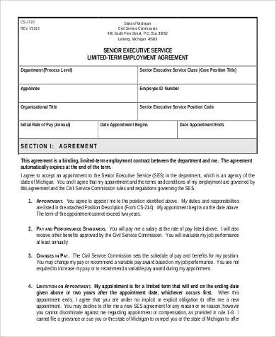 Employment Agreement Sample - executive employment contract