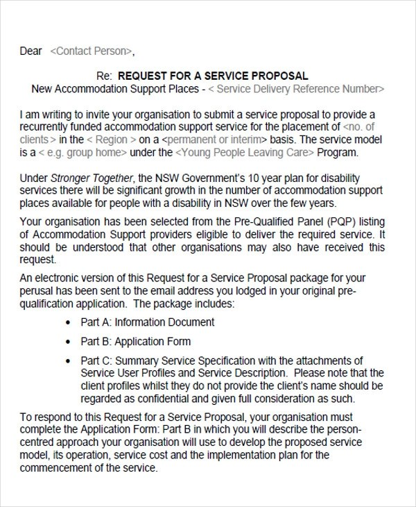 34 Proposal Letter Format Samples Sample Templates - it services proposal