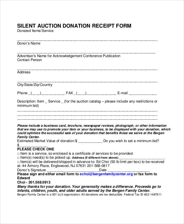 Sample Donation Forms - radioincogible