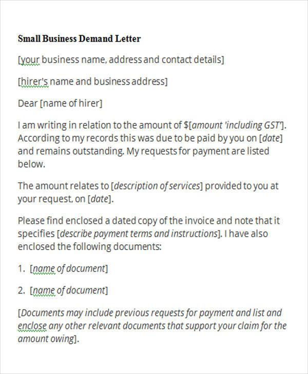 50+ Free Demand Letters Sample Templates - demand letter