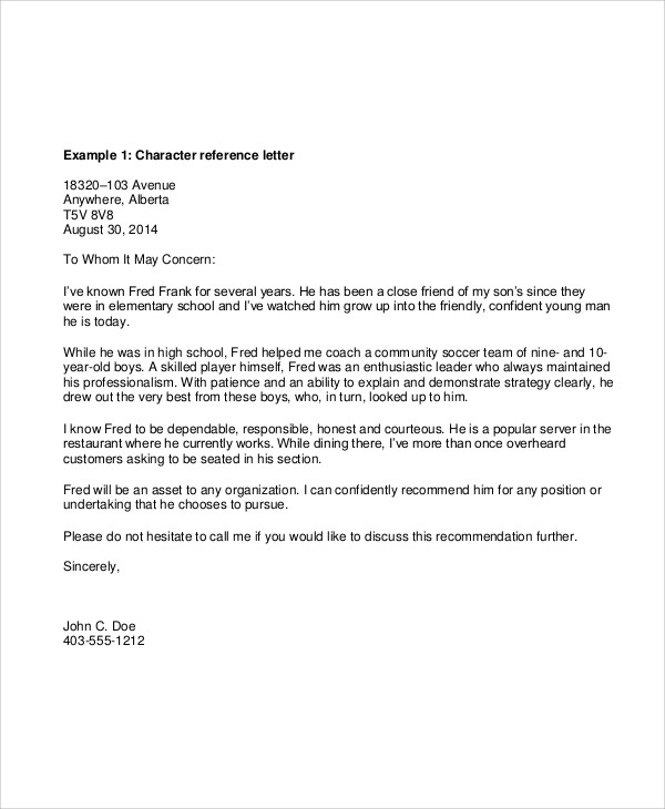 Reference Letter Work Sample Template  Professional Resumes
