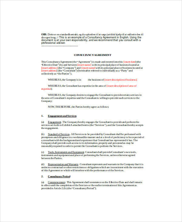 18+ Consulting Agreement Forms Sample Templates