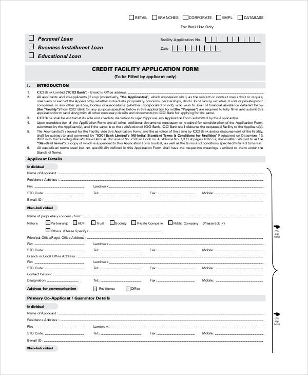 standard credit application form 3slufsluidsprekers