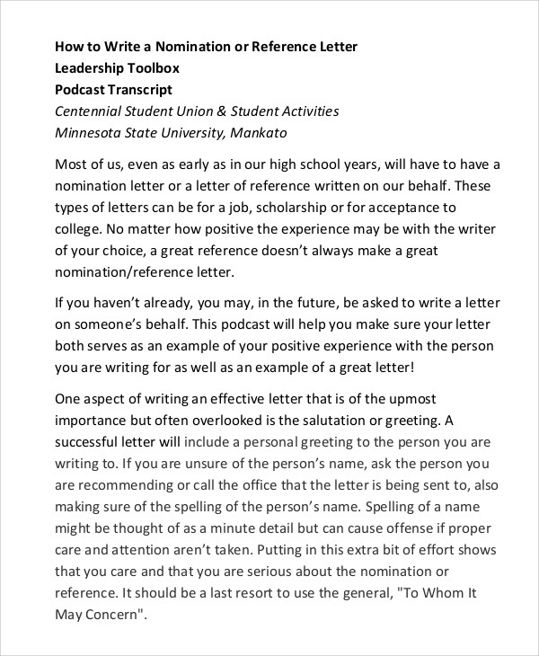 Standard Reference Letter 28+ Reference Letter Template u2013 Free - format for letter of reference