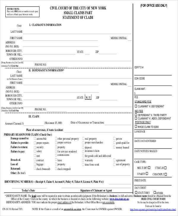 46+ Statement Form Examples Sample Templates