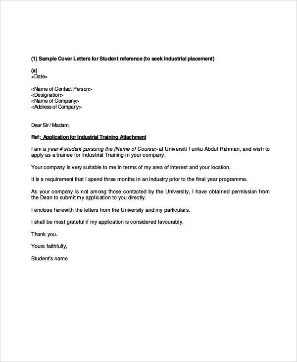 dean of students cover letter