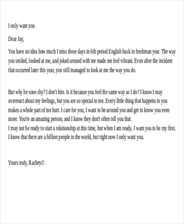 How To Write A Love Letter Sample Image collections - Letter Format