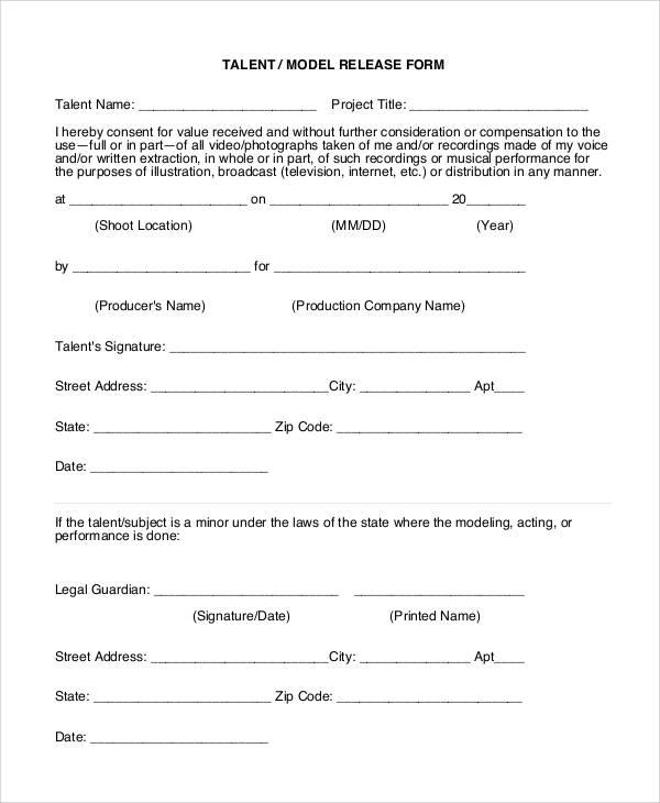 47+ Printable Release Form Samples  Templates - PDF, DOC