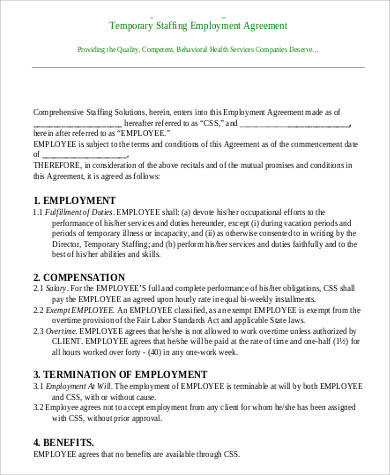 41+ Employment Agreement Samples Sample Templates - dentist employment agreement