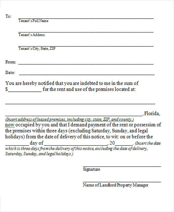 16+ Notice Forms in Word Sample Templates