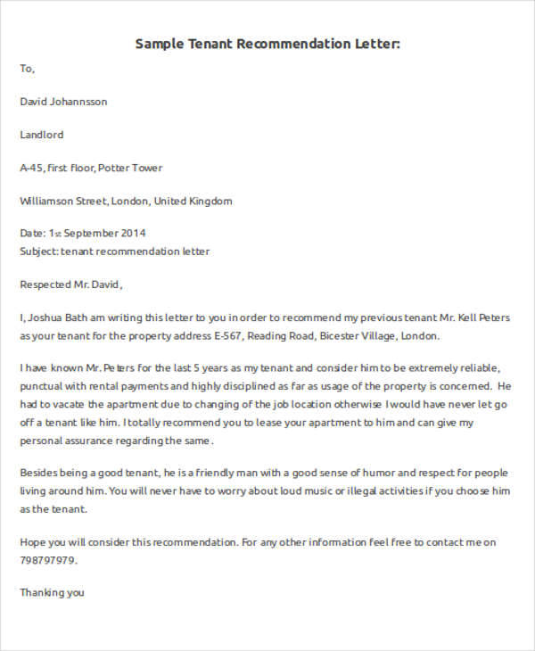 landlord reference letter template trattorialeondoro