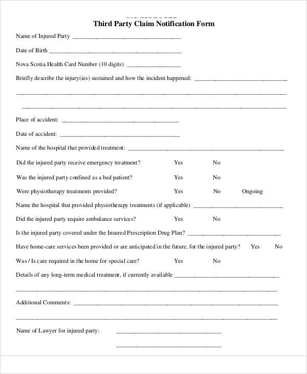 Sample Claim Forms in PDF - injured spouse form
