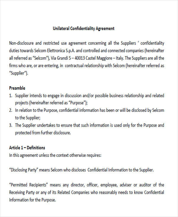 vendor confidentiality agreements lovinglyy - data confidentiality agreement