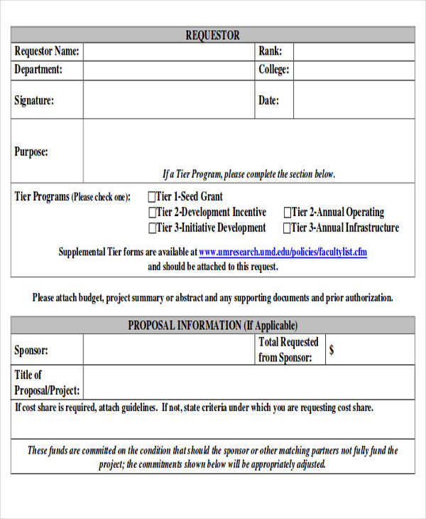Sample Funding Request Form - 10+ Examples in Word, PDF - funding request form