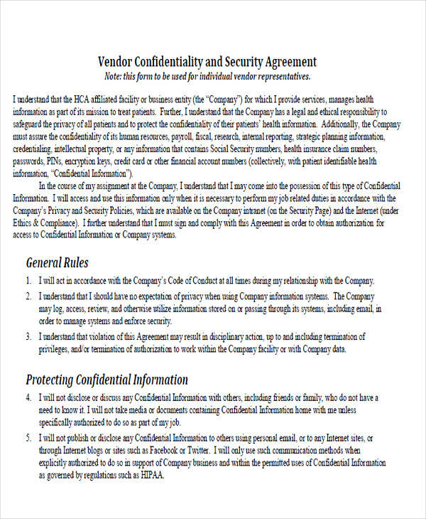 Vendor-confidentiality-agreements-54 sample medical - vendor confidentiality agreement
