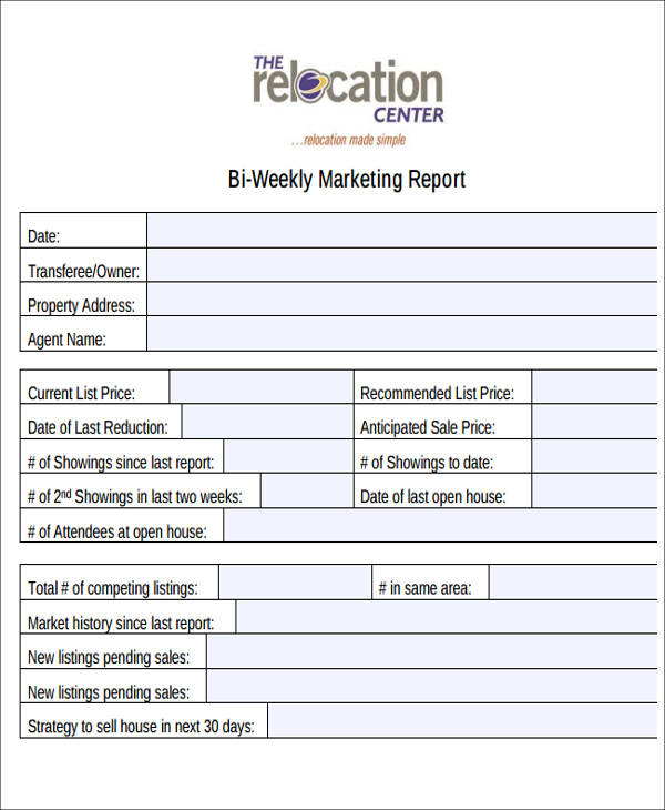 10+ Sample Marketing Reports Sample Templates - Marketing Report Sample