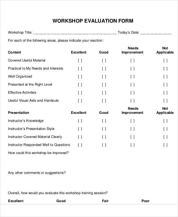 peer evaluation form sample hitecauto - sample workshop evaluation form example