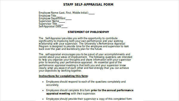18+ Sample Appraisal Forms in DOC Sample Templates - appraisal form in doc