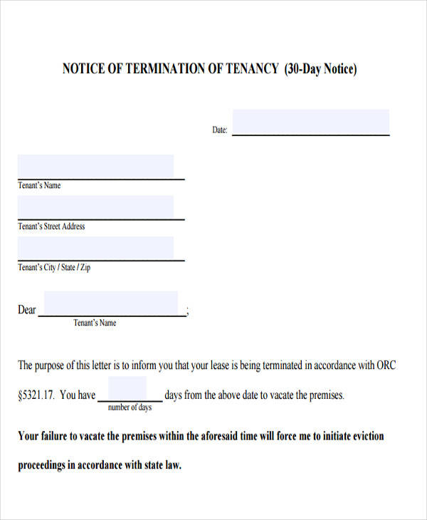 32 Eviction Notice Templates - eviction notice template
