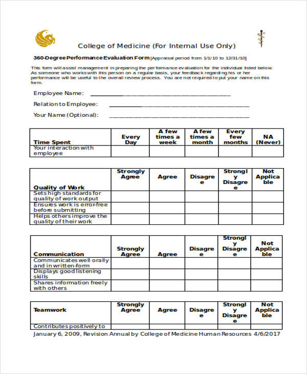 40+ Simple Appraisal Forms Sample Templates - monthly appraisal form